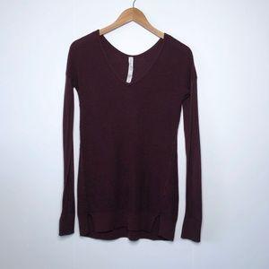 LULULEMON The Sweater Life V-Neck Knit Pullover